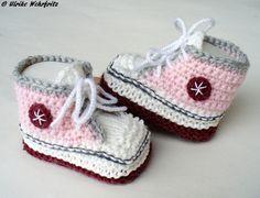 Babyschuhe Turnschuhe  von strickliene auf DaWanda.com