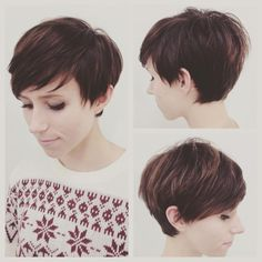"How to style the Pixie cut? Despite what we think of short cuts , it is possible to play with his hair and to style his Pixie cut as he pleases. For a hairstyle with a ""so chic"" and pointed… Continue Reading → Pixie Haircut Styles, Short Pixie Haircuts, Pixie Hairstyles, Pretty Hairstyles, Curly Hair Styles, Longer Pixie Haircut, Pixie Styles, Pixie Cut With Bangs, Short Hair Cuts"