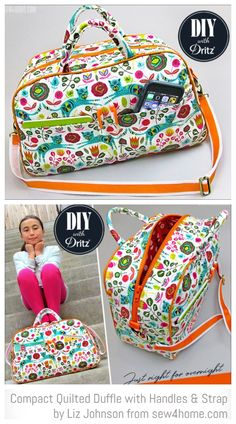 DIY Compact Quilted Travel Duffle Bag Free Sewing Patterns Source by famlehmann Duffle Bag Patterns, Diy Bags Patterns, Sewing Patterns Free, Free Sewing, Diy Duffle Bag, Duffle Bag Travel, Diy Handbag, Diy Purse, Bag Essentials