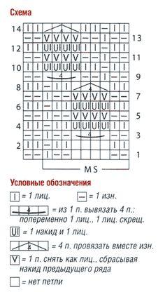 Схема узора и условные обозначения