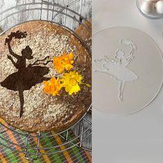 Ballerina cake stencil decoration - ballerina birthday. Round stencil for cake decoration. Serial number- R010
