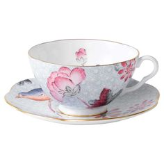 Cuckoo Teacup and Saucer, Blue - Wedgwood - Wedgwood - RoyalDesign.com