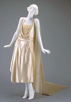 Wedding Dress and Train | c. 1921