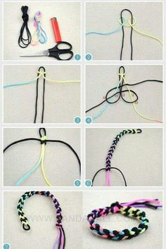 This tutorial will show you how to make a DIY ombre string bracelet quickly; this design is also quite suitable to be promise bracelet for a boyfriend. Diy Friendship Bracelets Patterns, Diy Bracelets Easy, Thread Bracelets, Embroidery Bracelets, Bracelet Crafts, Jewelry Crafts, Braclets Diy, Knot Bracelets, Diy Ombre