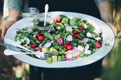 Epic Summer Salad with home mad labneh