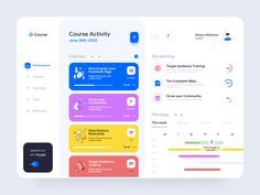 Course web app  activity,app,app design,clean ui,comment,courses,dashboad,design,desktop application,meeting,minimal,performance,planner,progress,resources,task,tools,ui,ux,web app Design Web, Web Design Courses, Best App Design, Clean Web Design, Web Design Tools, Design Layouts, Flat Design, Desktop Design, App Design Inspiration