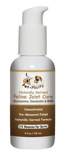 Liquid Glucosamine for Cats - Chondroitin - Aloe Vera and MSM - Naturally Derived Feline Joint Care Supplement - 118ml (4 fl OZ) Pump *** Visit the image link for more details. #CatHealthSupplies