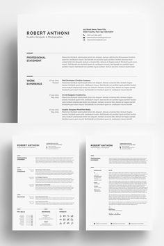 Clean Resume - Designer/Developer/Photographer Resume Template #Resume #Designer #Resume #Clean