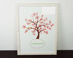 """""""The wedding tree""""- ist eine wunderbare alternative zum herkömmlichen Gästebuch.  Eure Gäste stempeln jeweils Ihren schönsten Fingerabdruck in den Ste"""
