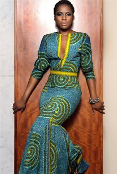 Copy of African Print Midi Dress Ankara Print Dress African Inspired Fashion, African Print Fashion, Ethnic Fashion, Look Fashion, Fashion Prints, Fashion Styles, Dress Fashion, Womens Fashion, High Fashion