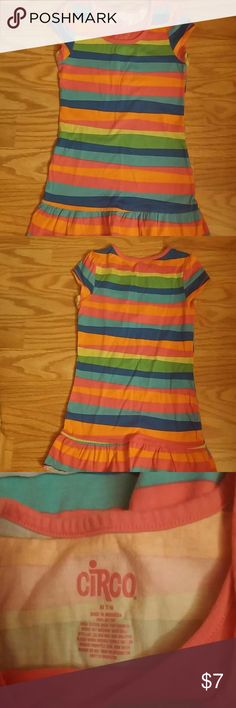 Girls' Circo striped tunic top Circo striped tunic top for girls. 100% cotton for a cool fit. Multiple colors matches many shorts or leggings. Circo Shirts & Tops Tees - Short Sleeve