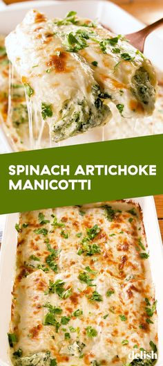 & Artichoke Manicotti These GIANT pasta noodles are stuffed with cheesy spinach artichoke dip. Get the recipe at .These GIANT pasta noodles are stuffed with cheesy spinach artichoke dip. Get the recipe at . Easy Appetizer Recipes, Healthy Recipes, Vegetarian Recipes, Cooking Recipes, Cooking Gadgets, Spinach Dinner Recipes, Meatless Pasta Recipes, Cheesy Pasta Recipes, Microwave Recipes