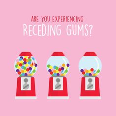 THERE ARE MORE THAN 200,000 cases of receding gums in the US every year! If you notice gum recession or sensitivity, come and see us for help!