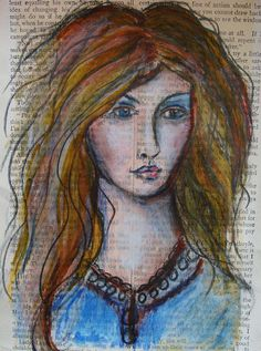 My Art Journal: 29 faces challenge Feb 2013