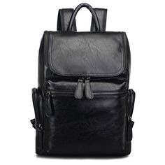 42.79$  Buy now - http://ali228.worldwells.pw/go.php?t=32712357717 - Hot Sales 2017 Mens Leather Backpack Popular PU Leather Men Fashion Backpack Casual Men's Brand Famous Backpack  42.79$