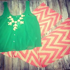 We adore these pants!! $34.95, tank $24.95!
