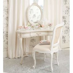 just-a-dream19: Delphine Shabby Chic Dressing Table   Dressing Tables   Tables   French Bedroom Company en We Heart It - http://weheartit.com/entry/104132132