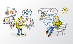 Cartoons und Illustration
