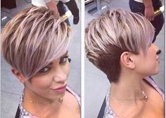 Image result for funky pixie cuts for thick hair #PixieHairstylesFunky