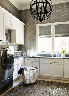 Laundry Room. Laundry Room Cabinet Design. Laundry Room Storage. Laudnry Room Lighting. Laundry Room Cabinet Layout. Laundry Room Decor. #laundryRoom   Atlanta Homes & Lifestyles.