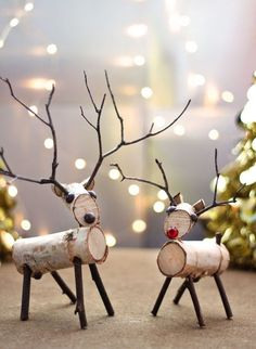 How to Make a Birch Wood Reindeer, How to Make a Birch Wood Reindeer A reindeer decoration made from birch branches and twigs is easy to create with a few simple tools. A reindeer decor. Twig Crafts, Christmas Projects, Holiday Crafts, Nature Crafts, Food Crafts, Upcycled Crafts, Tree Branch Crafts, Rustic Christmas Crafts, Tree Branch Decor