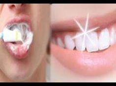 Como blanquear los dientes con bicarbonato de sodio y con limon, blanqueamiento dental - YouTube