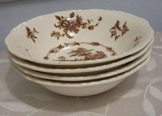 Mason's Watteau Coupe Cereal Bowl Brown by amyseverydayvintage, $9.49