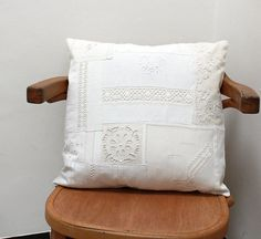 Pillow case cushion handmade with french by UnChatsurleToit