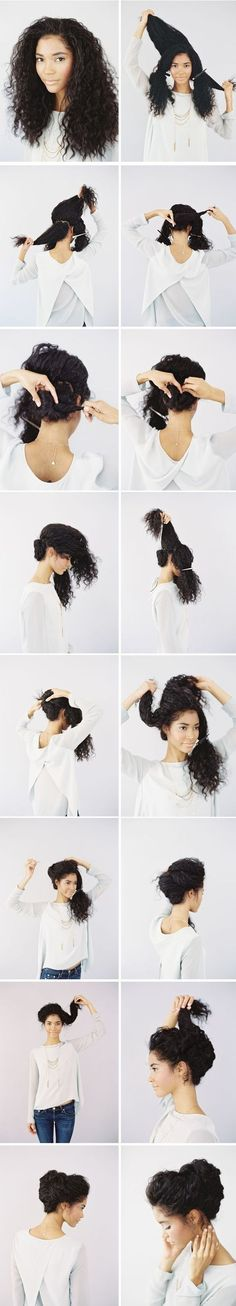 Or, go for this romantic updo. | 17 Incredibly Pretty Styles For Naturally Curly Hair:
