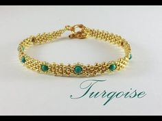 Laced beaded kumihimo bracelet - YouTube