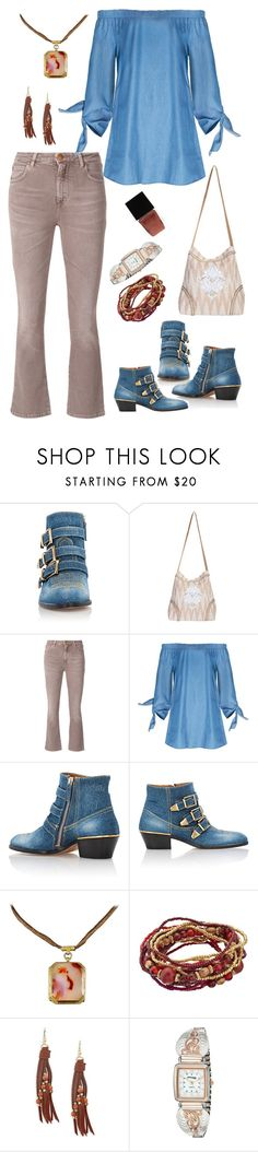 """""""Geen titel #443"""" by miriam-witte ❤ liked on Polyvore featuring Chloé, Scully, Closed, Design Lab, Montana Silversmiths and Witchery"""