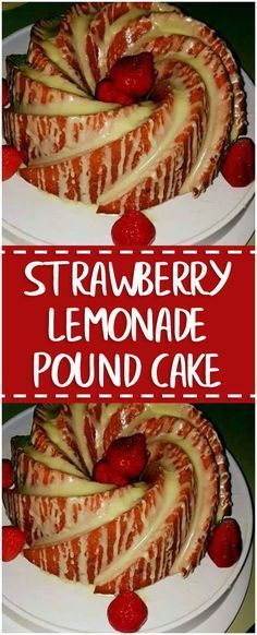 Strawberry Lemonade Pound Cake Rich and delicious! Be careful not to overbake.Strawberry Lemonade Pound Cake Rich and delicious! Be careful not to overbake. Made according to the directions exactly and one hour in the oven was not quite enou Strawberry Lemonade Pound Cake Recipe, Homemade Strawberry Lemonade, Pound Cake With Strawberries, Strawberry Desserts, Pound Cake Recipes, Pound Cakes, Layer Cakes, Delicious Desserts, Dessert Recipes