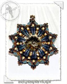 Denica beaded pendant PDF pattern by EwaHotBeads on Etsy