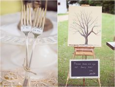 Family Tree Wedding Guestbook. I don't like fingerprints but I like the idea of a stamp!
