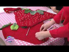 Derya Baykal çilek panço yapımı - YouTube