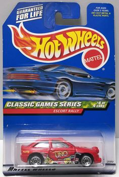 1998 Mattel Hot Wheels Die-Cast Classic Games Series Escort Rally This item is NOT in Mint Condition and is in no way being described as Mint or even Near Mint. Our toys have not always lead the perfe