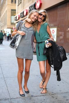 Love the dress on the right