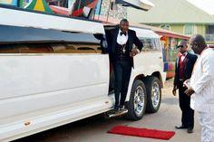 NIGERIAN FLAMBOYANT PASTOR TOM SAMSON SHOWS OFF HIS LUXURY HUMMER LIMOUSINE