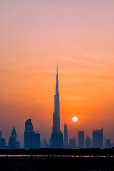 Towering Sunset - © Paul Andrew White - Dubai