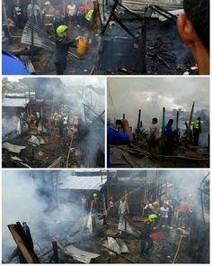 A ésta hora se presenta nuevamente un incendio en el asentamiento Triunfemos por la Paz en Popayán.