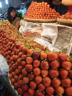 Strawberries galore at the market, Baguio City, The Philippines Baguio City, International Trade, Strawberries, Philippines, Fruit, Health, Food, Strawberry Fruit, Health Care