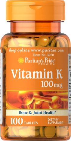 Puritans Pride Vitamin K 100 mcg100 Tablets *** You can get more details by clicking on the image. (Note:Amazon affiliate link)