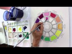 How to Paint a Color Wheel by Jody Bergsma - YouTube
