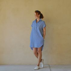 Carolyn's gingham Kalle Shirtdress http://handmadebycarolyn.com.au/2017/04/gingham-closet-case-kalle-dress.html