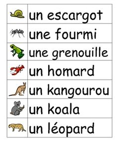 Les animaux French vocabulary word wall cards L+ Language Lessons, French Language Learning, German Language, Japanese Language, Spanish Language, French Teacher, Teaching French, Teaching Spanish, How To Speak French
