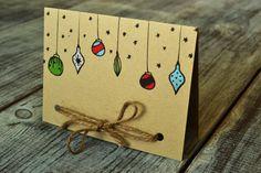 Holiday Card Handmade Ornaments Kraft and Twine by TumbleWeedCH, $4.50