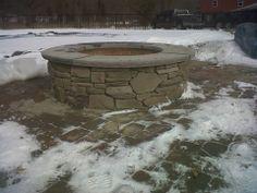 Nardelli Stone Works bucks county southern ledgestone with brownstone cap