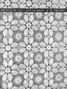 Vintage Crochet Lace Patterns Motifs Water Lily Irish by Dazespast