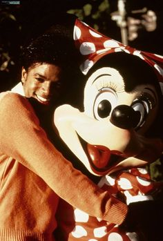 Michael Jackson with Minnie Mouse