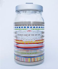 Another great find on #zulily! 'Favorite Part of the Day Jar' Décor #zulilyfinds